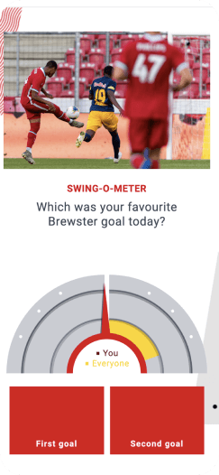 Voting on the Liverpool FC app - which goal was your favourite?