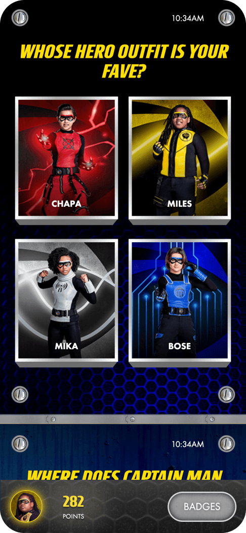 Example of gamification - whose hero outfit is your fave? Let users have their say.