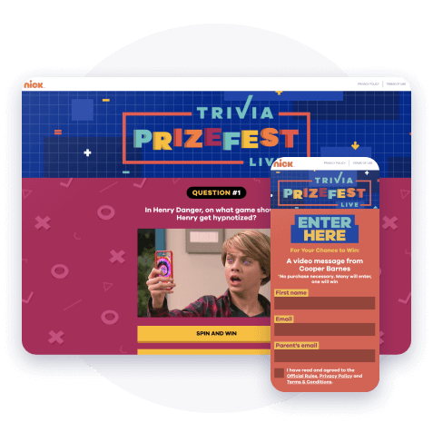 Rich, rewarding embedded interaction with quizzes on the Nickelodeon app