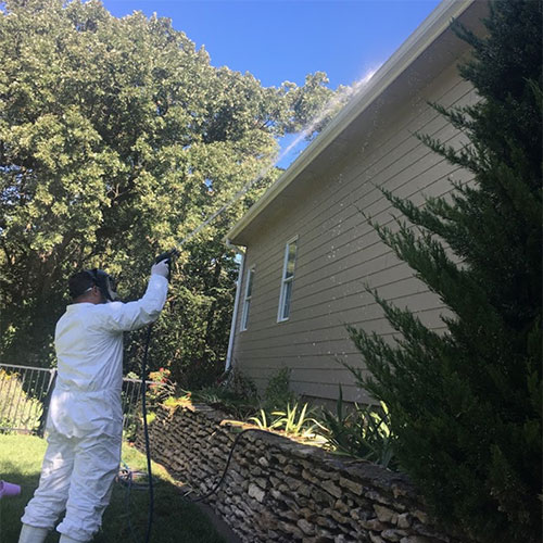 gutter cleaning project in salina