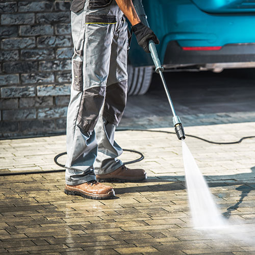 driveway cleaning project in salina