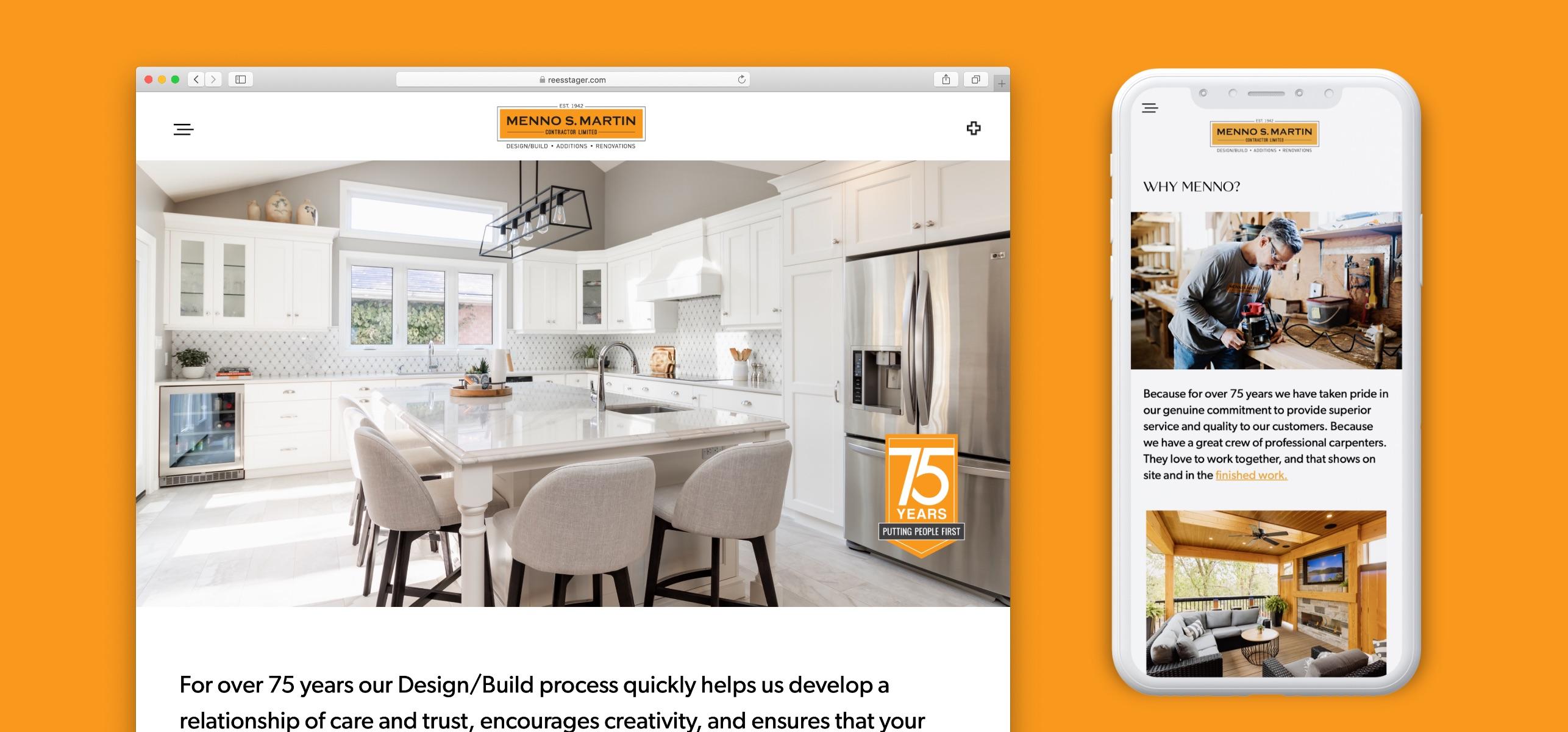 menno s martin website design