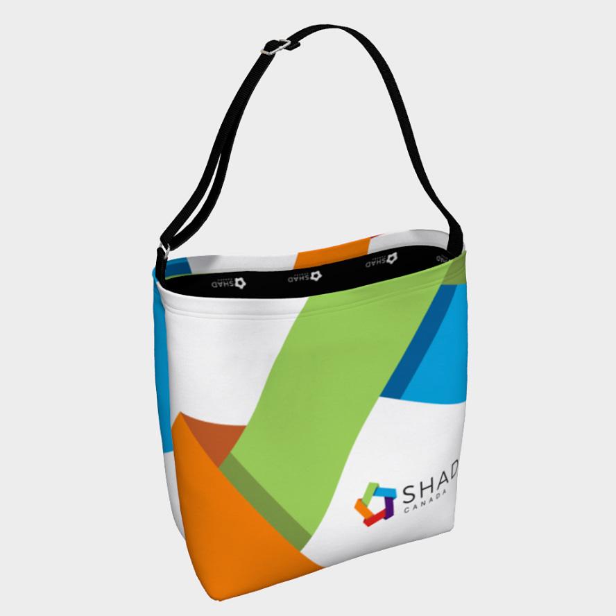 shad branded bag
