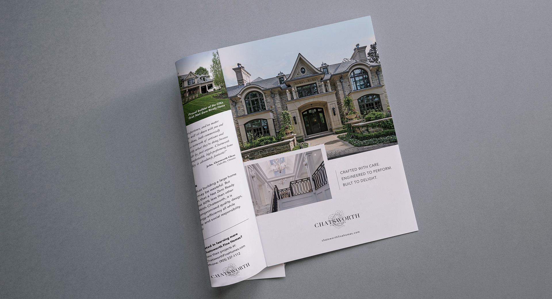 chatsworth print ad