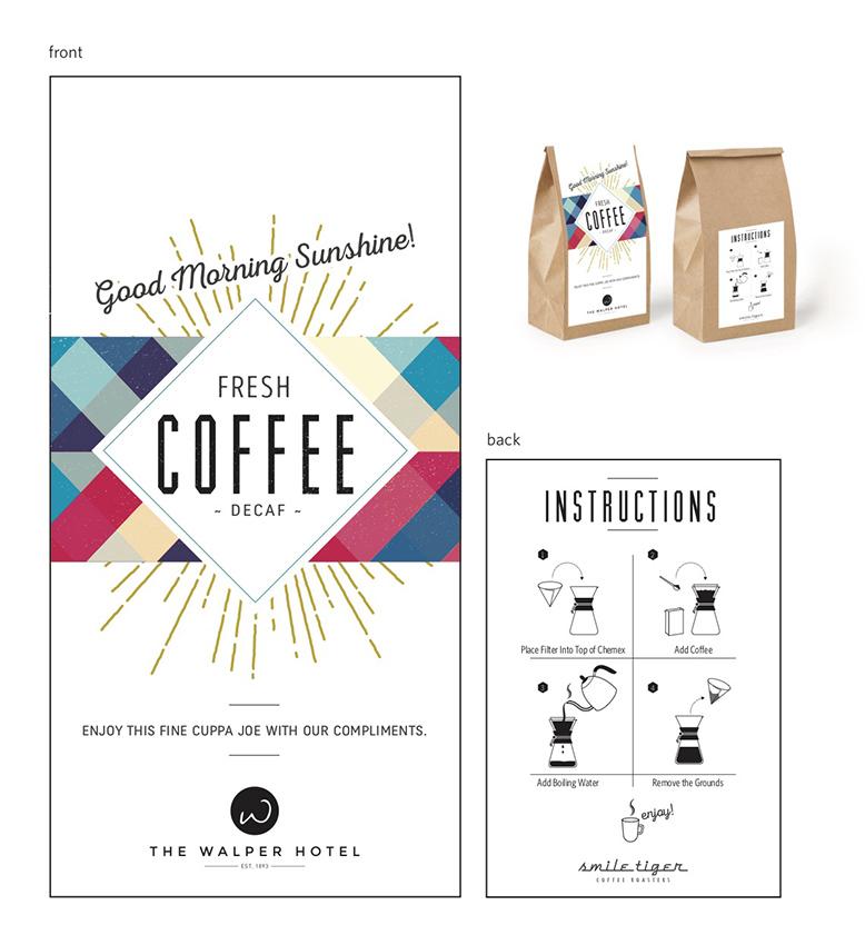 the walper hotel coffee packaging