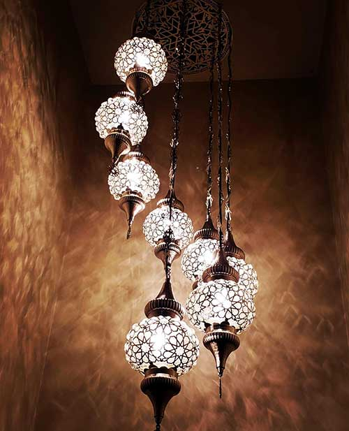 chandelier installation project