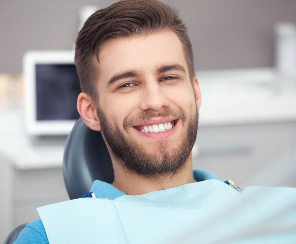male patient at the dentist