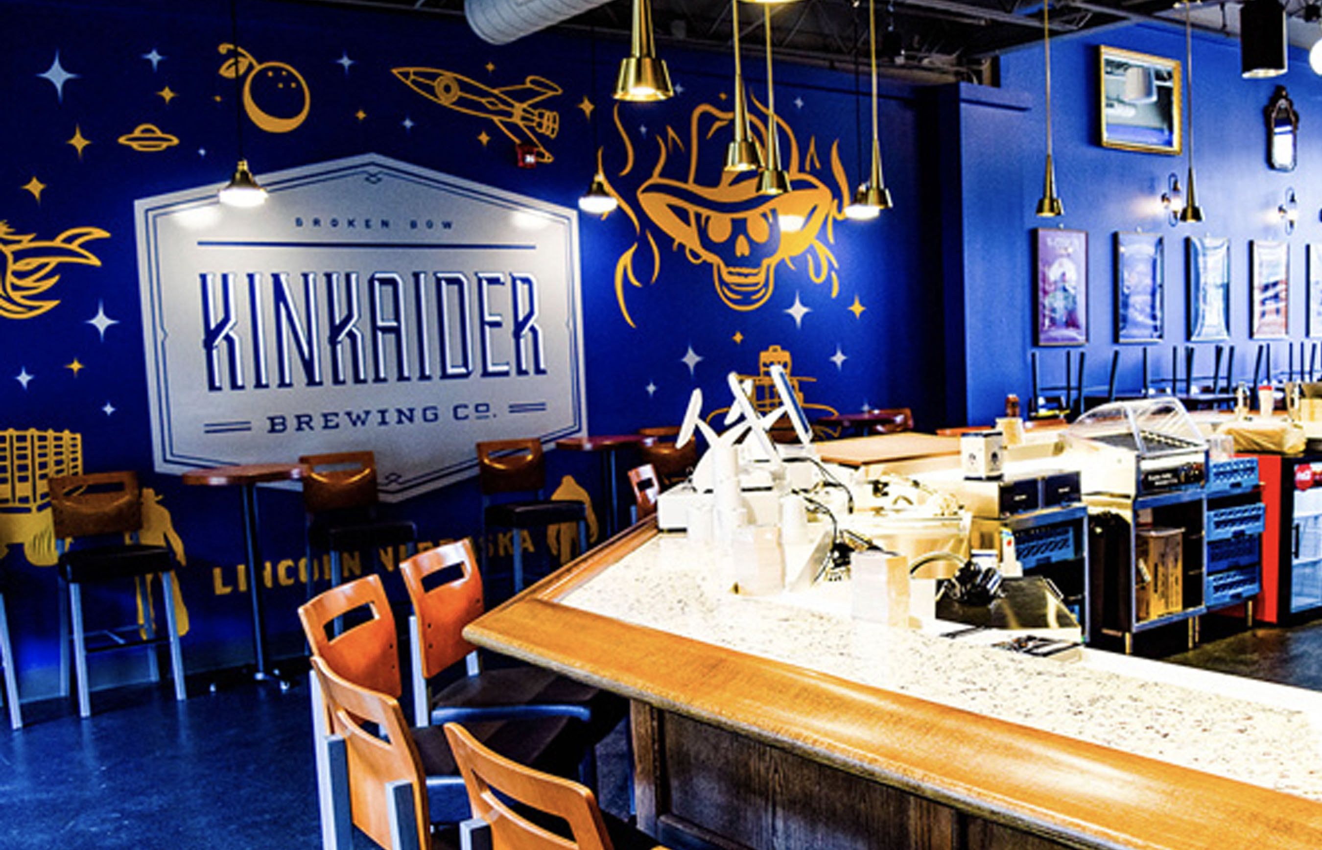 Kinkaider Brewing Co. in Lincoln's Murual