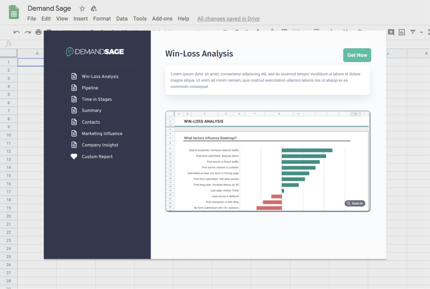 Out of the box reports to empower your HubSpot data with best-practice sales and marketing data insights in Google Sheets, like Account-Based Marketing reports