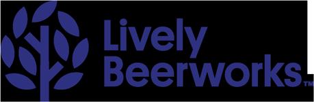 lively beerworks blue logo