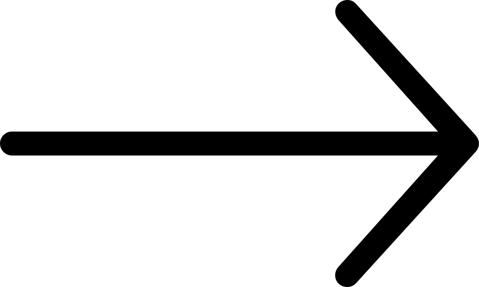short black pointer arrow right