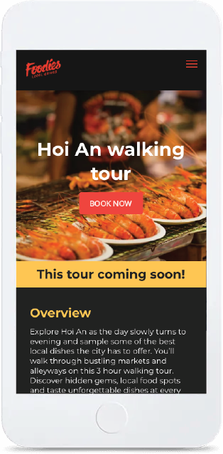 web mockup mobile foodies local guides