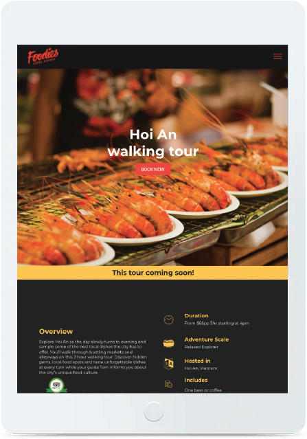 web mockup tablet foodies local guides