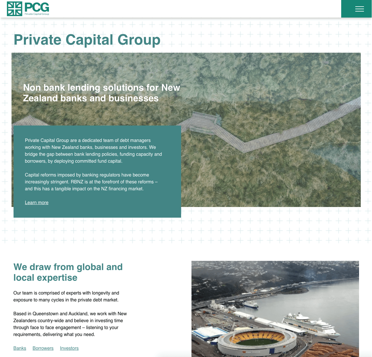 web mockup desktop private capital group