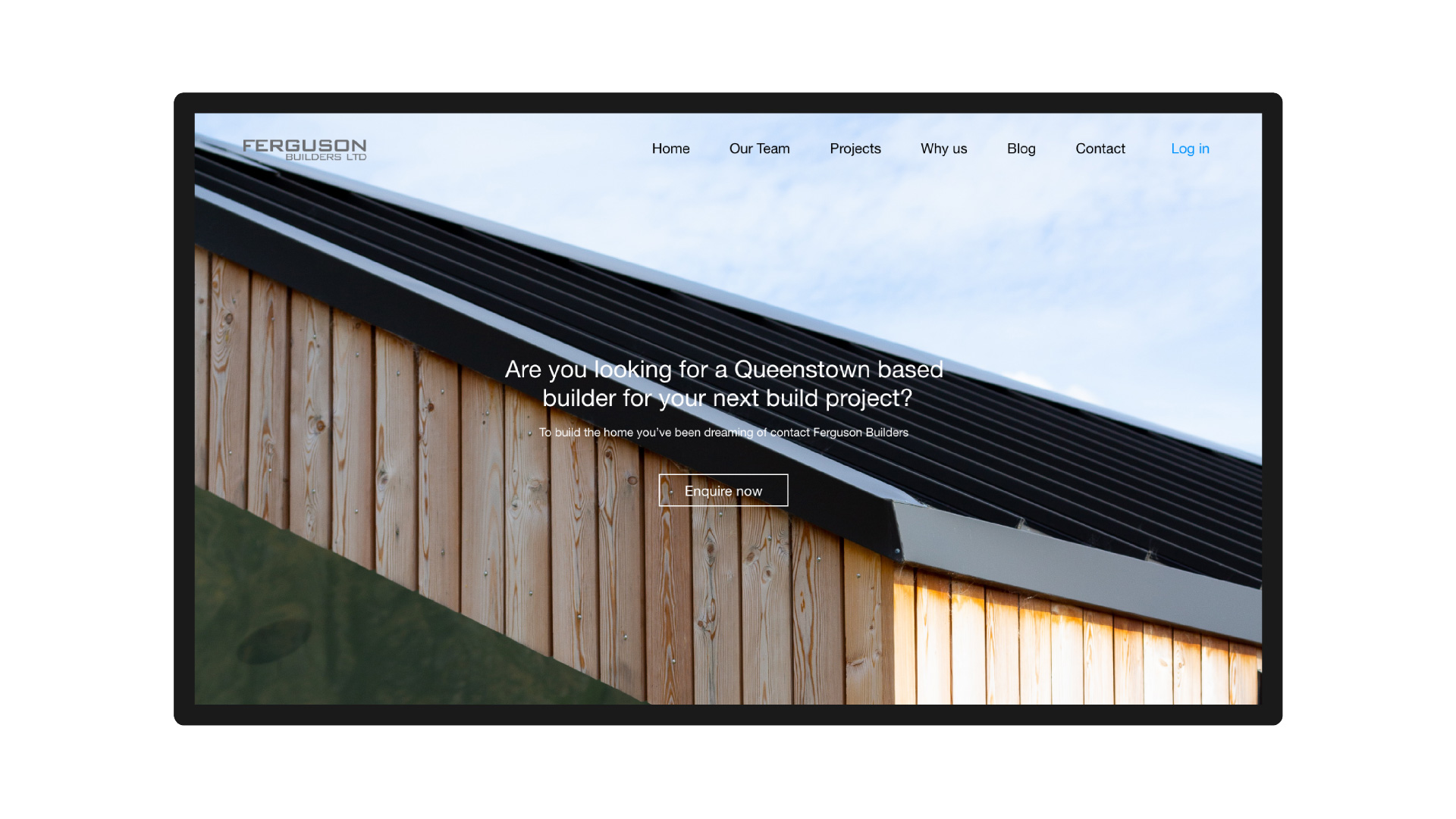 ferguson builders desktop website