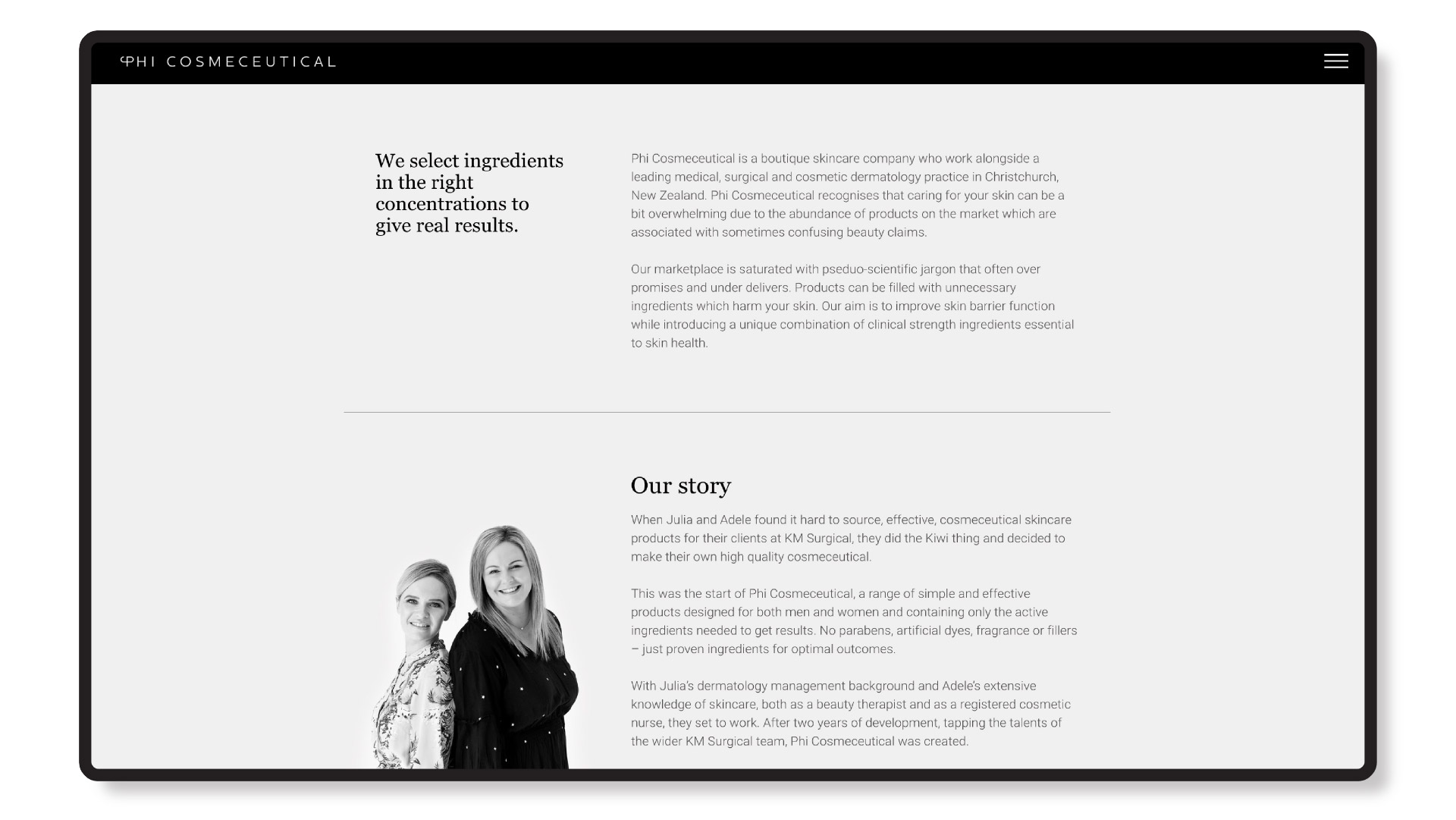 phi cosmeceutical tablet website