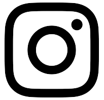 black social media icon instagram