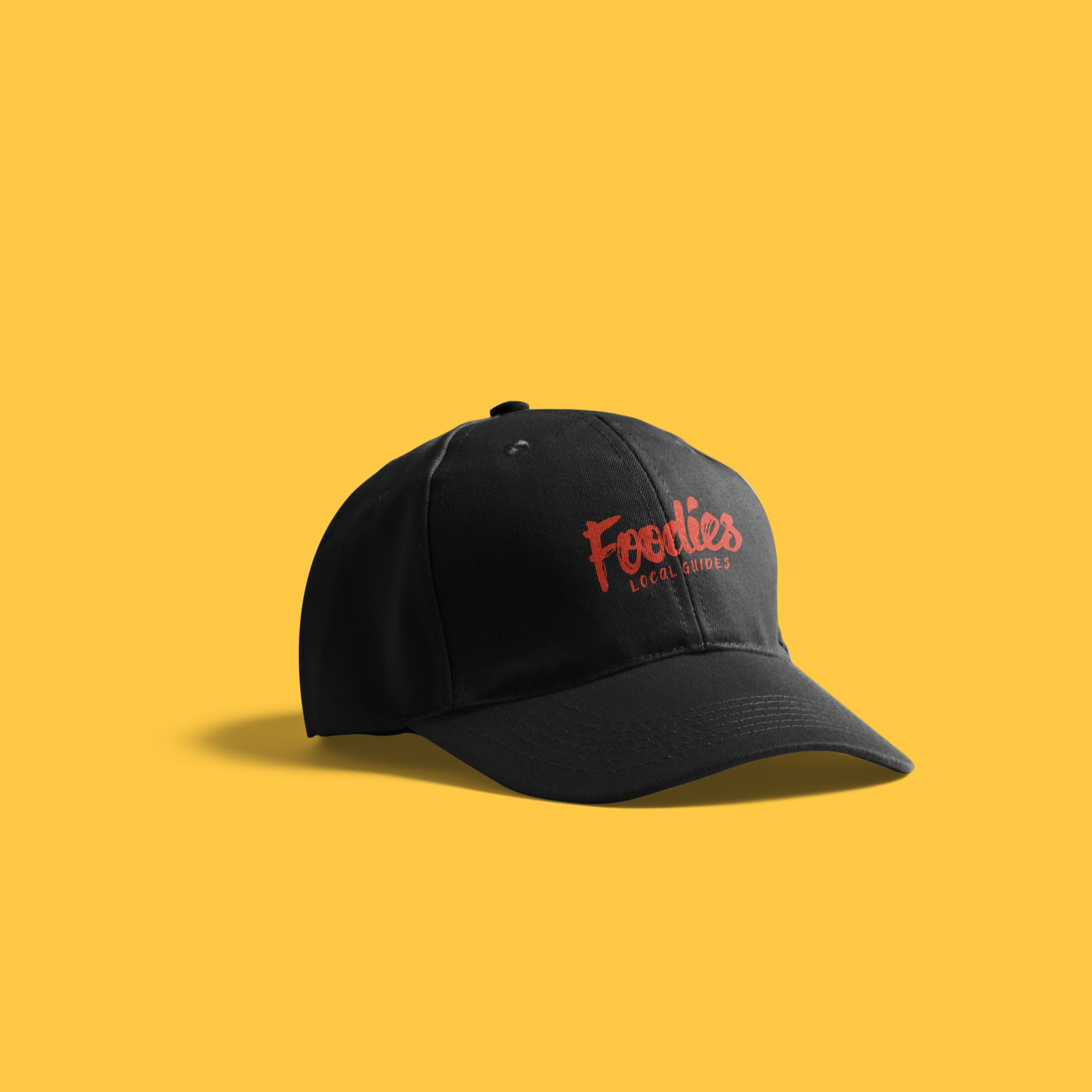 Foodies hat branding collateral