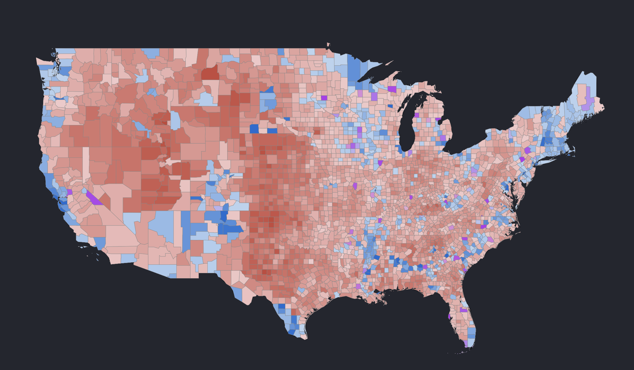 2004 2016 Presidential Elections Tilesets Mapbox