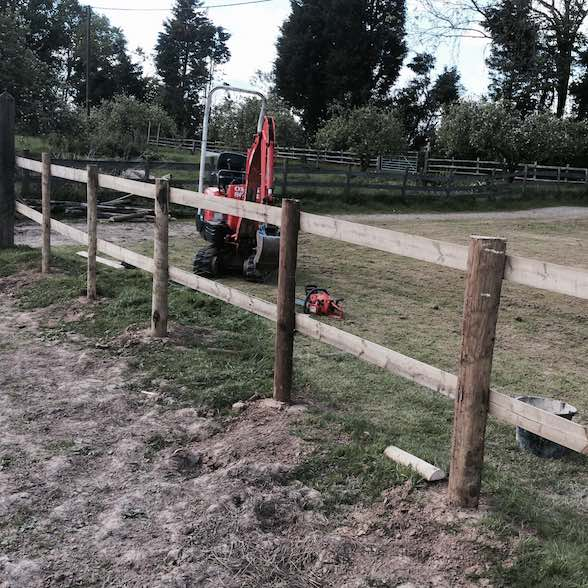 Paddock/Arena Post and Rail Fencing