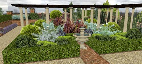 Mediteranean Garden with Wisteria Walk and Terrace, Wadhurst