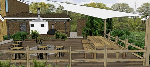 Woodland Entertainment Area for Artisan Smokery, Folkstone