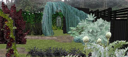 Themed Gothic Garden, Rochester