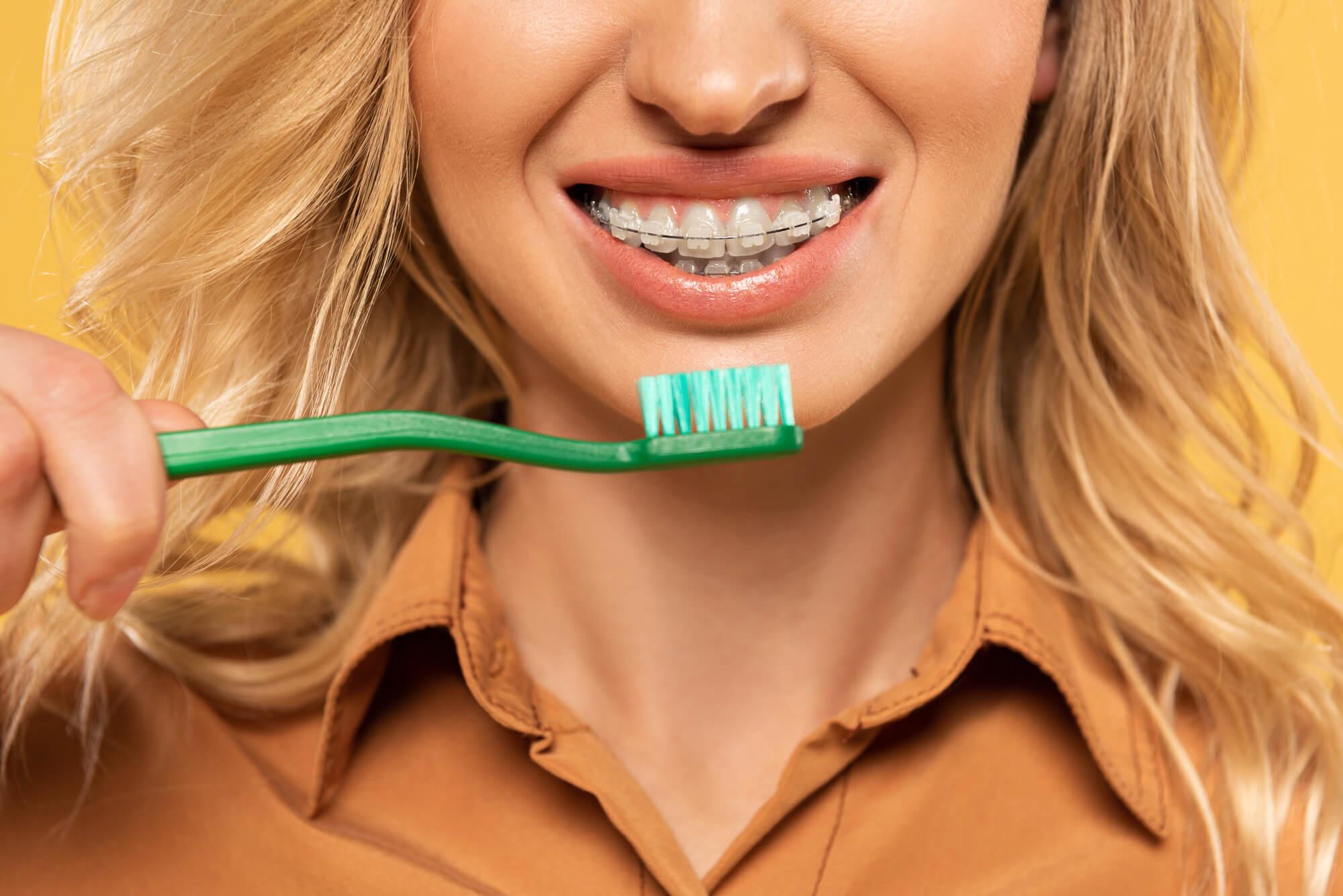 brushing braces hollywood