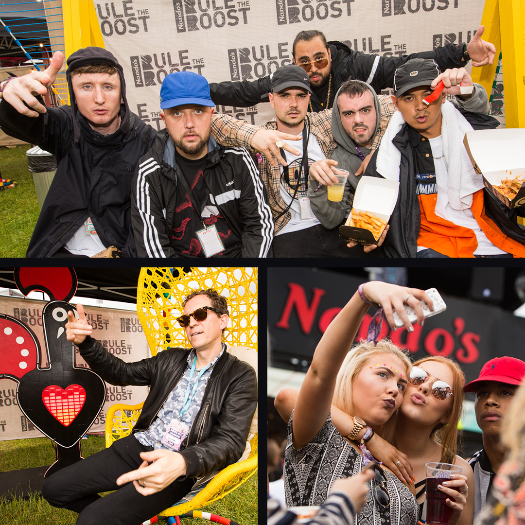 Kurupt FM group and festival crowds enjoying the rule the roost activation.