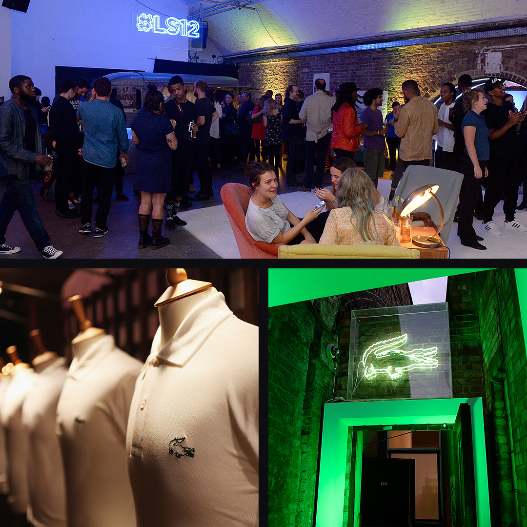 Lacoste events photo montage.