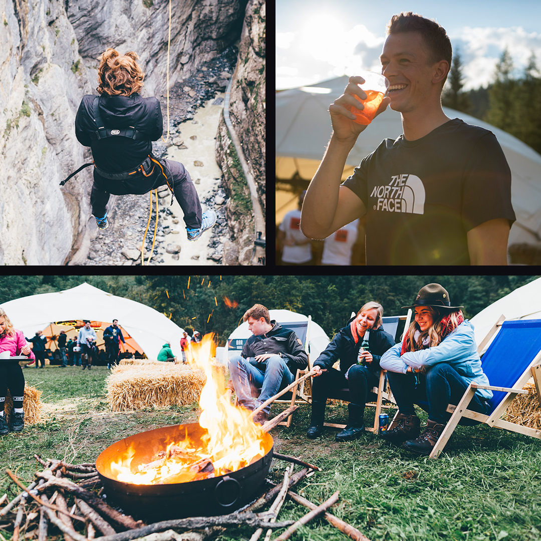 The north face mountain festival basecamp activities.