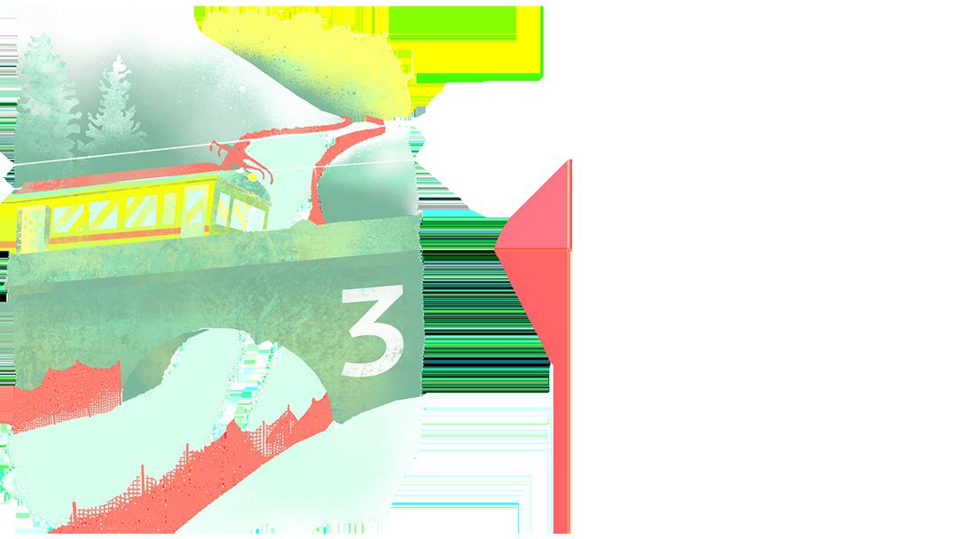 Editorial Illustration, Lauberhornrennen