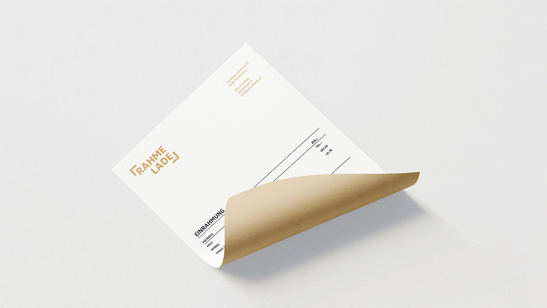 Branding, Briefpapier, Briefschaft