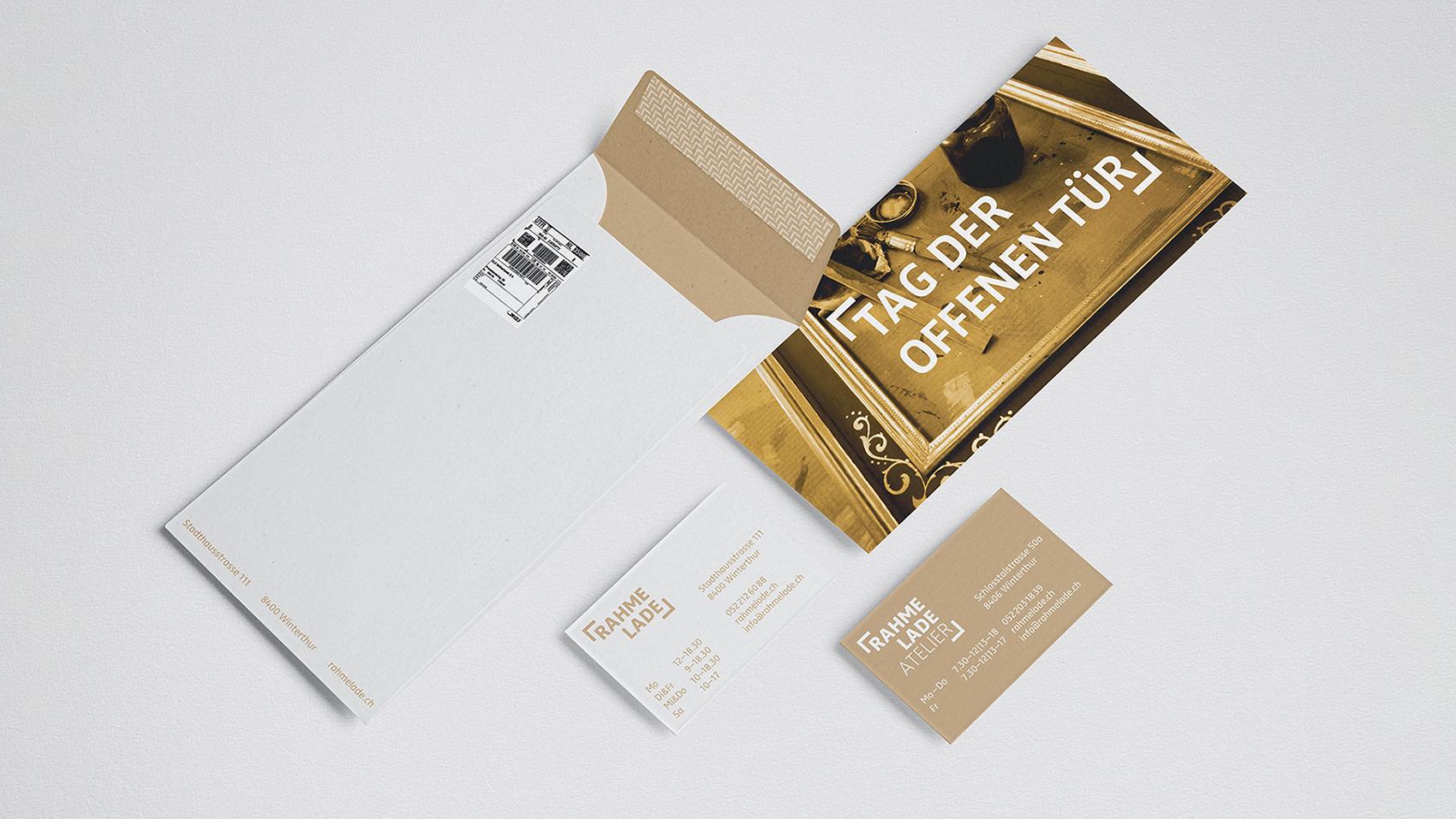 RahmeLade, Branding, Briefschaft, Logo, Corporate Font