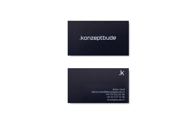 Konzeptbude, Branding, Schaffhausen, Format Studio, Visitenkarte, Layout