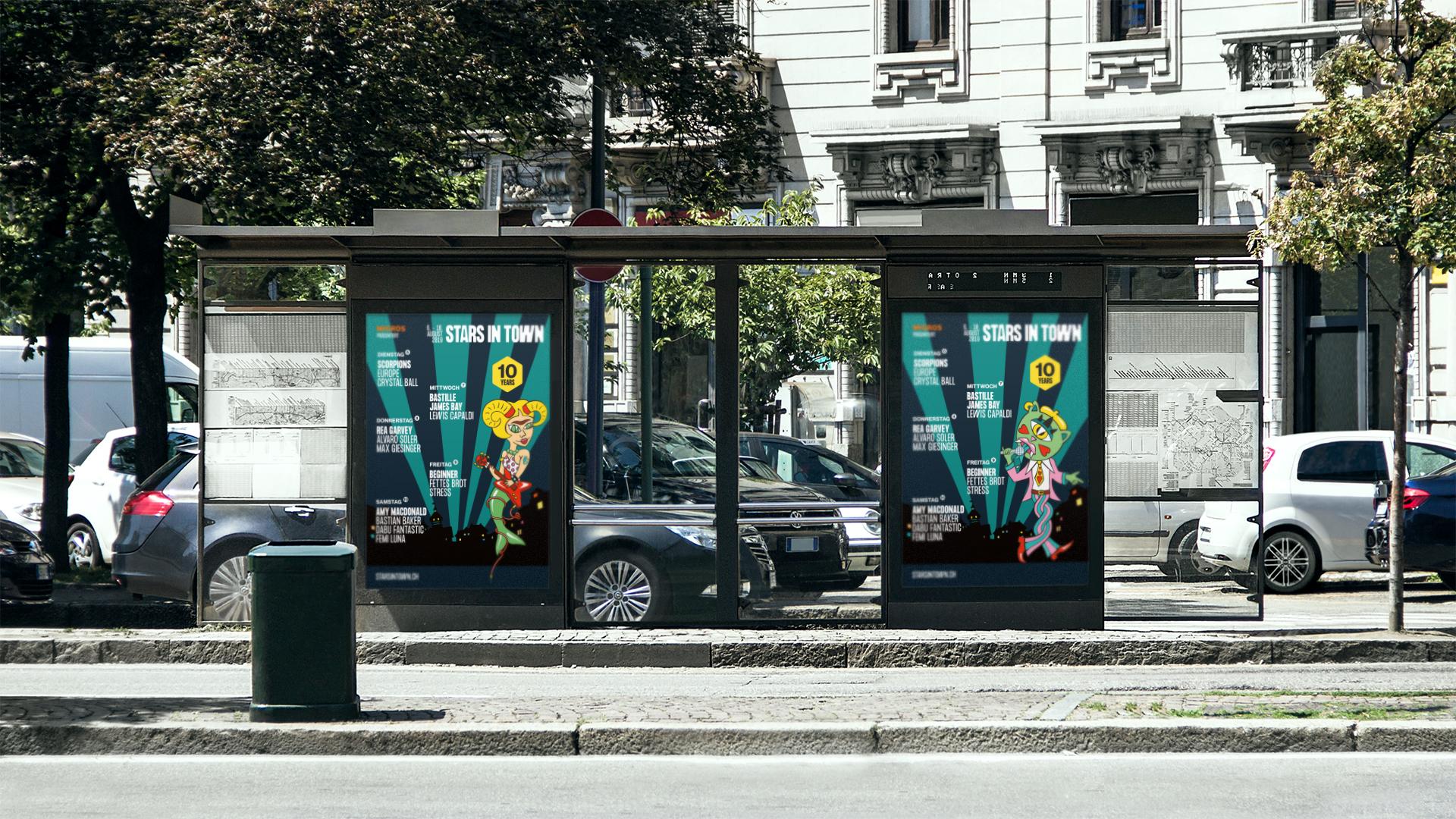 Plakat, Design, Stars in Town, Festival, Grafik, Schaffhausen