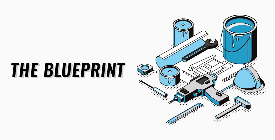 """The Blueprint"" heading illustration."