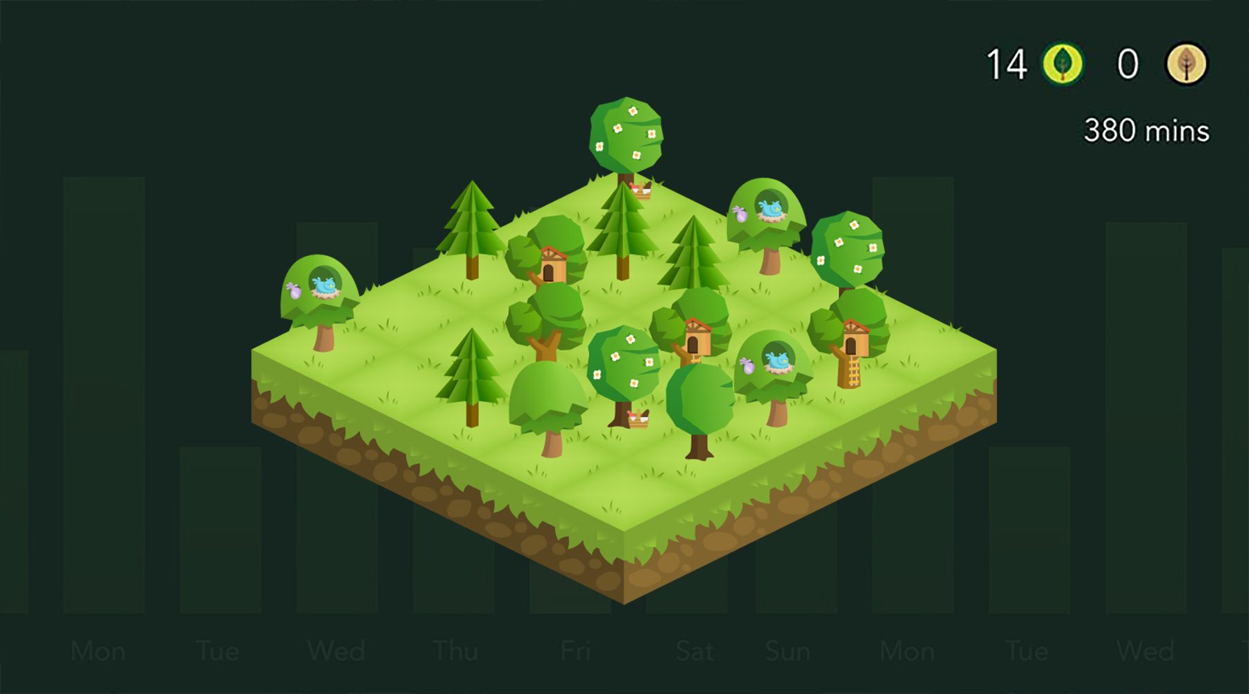 Forest App UI components.