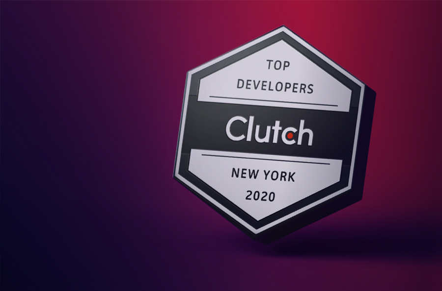Clutch 2020 Top Developers in New York Award Badge