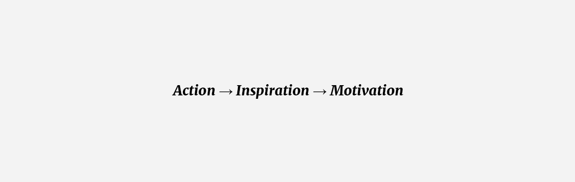 Action → Inspiration → Motivation