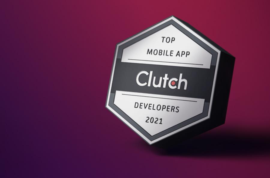 Clutch 2021 Top iPhone App Developers in New York City award badge