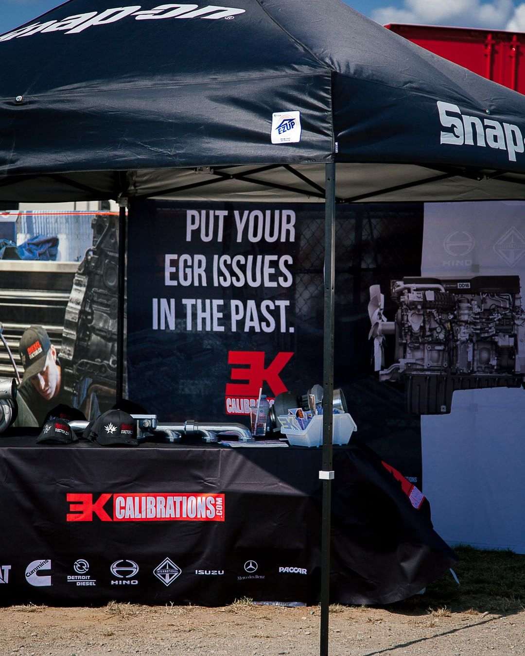 3K Calibrations tent at the Abbotsford Agrifair Sled Pull in 2019
