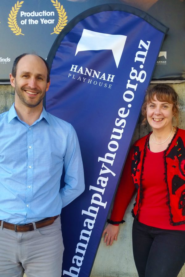 iTICKET CEO Reece Preston and Hannah Playhouse General Manager Kathiy Watson celebrate a new chapter for Wellington's Hannah Playhouse Theatre.