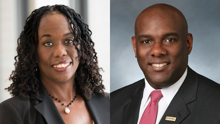 Carole Brown and Richard Bynum PNC execs | Contributed