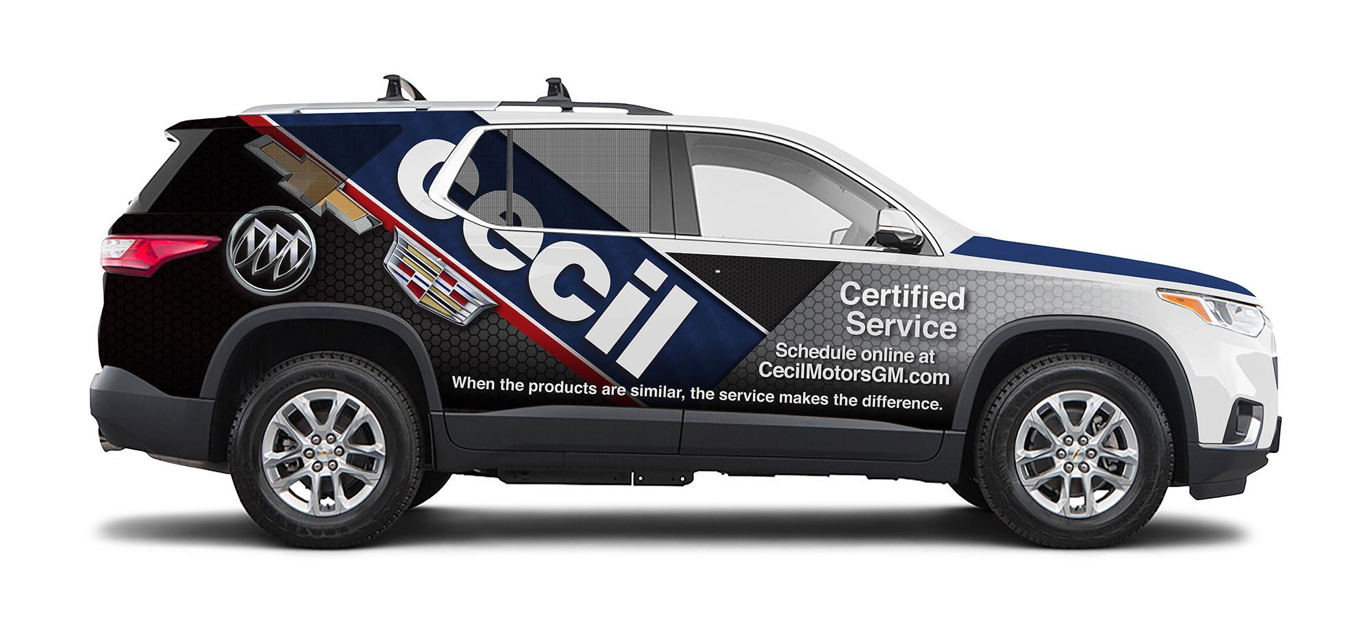 Cecil Vehicle Wrap Passenger