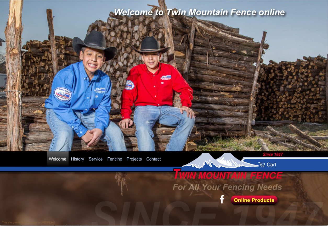 Twin Mountain Fence