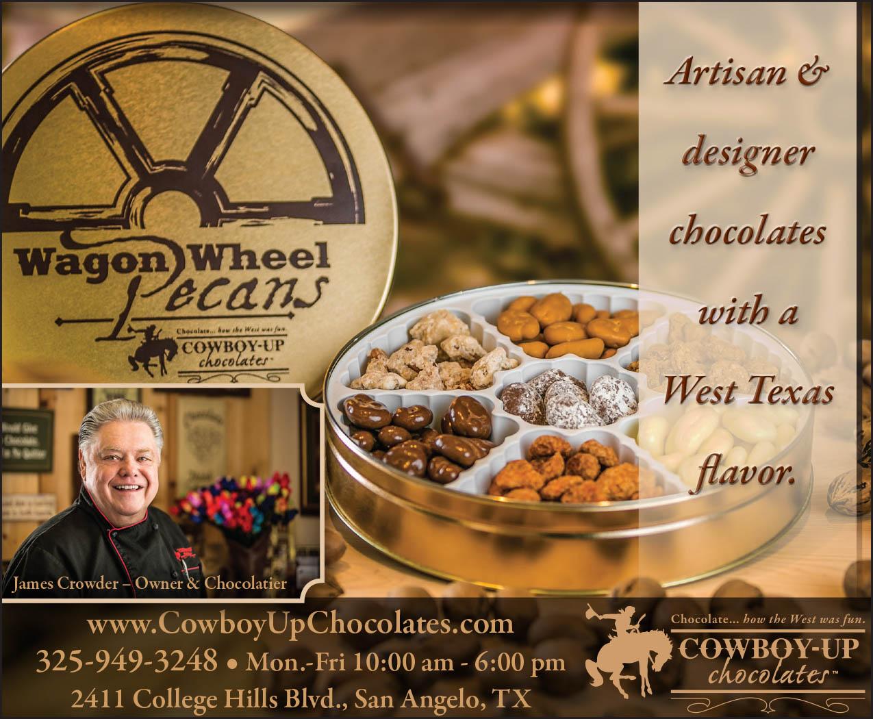 Cowboy-Up Chocolates Ad 1