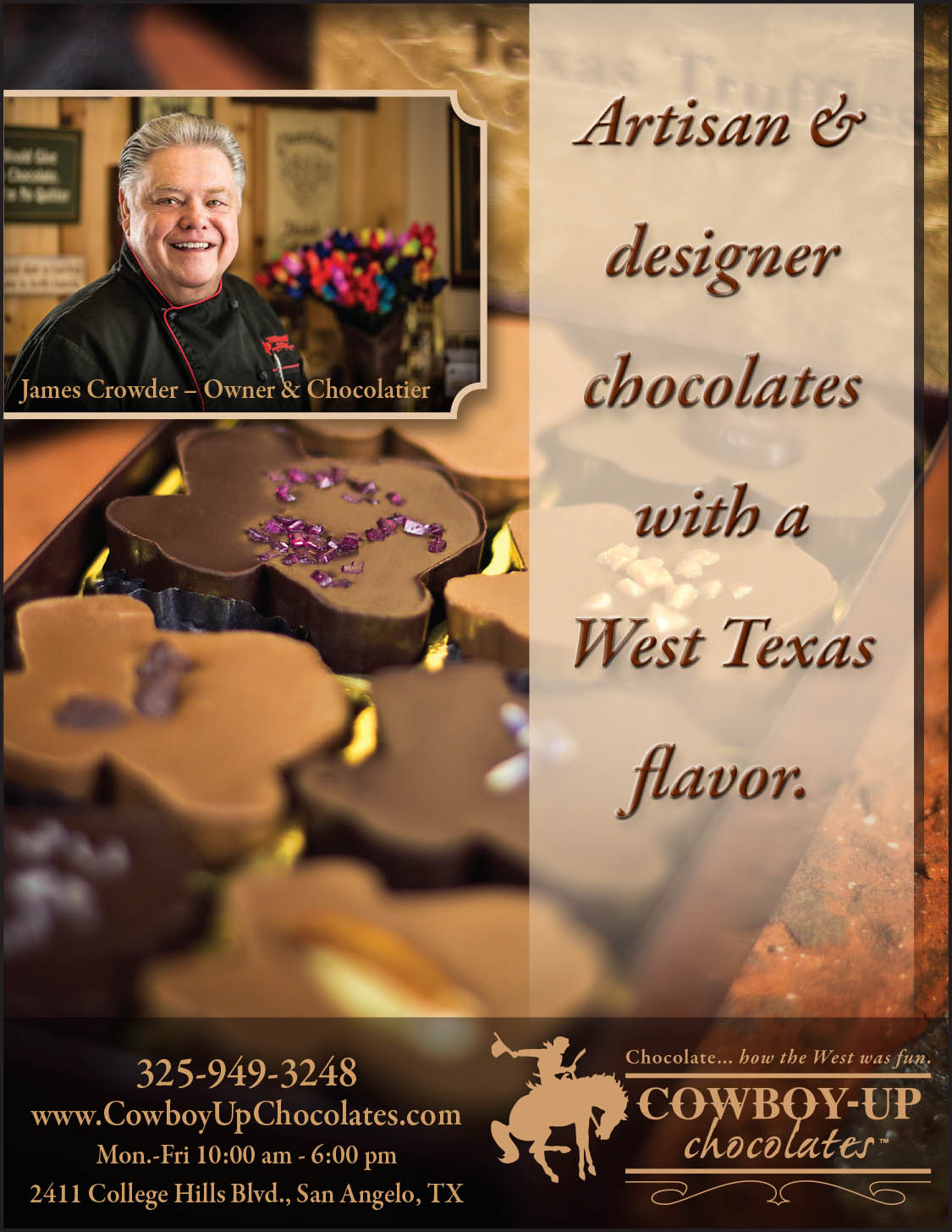 Cowboy-Up Chocolates Ad 2
