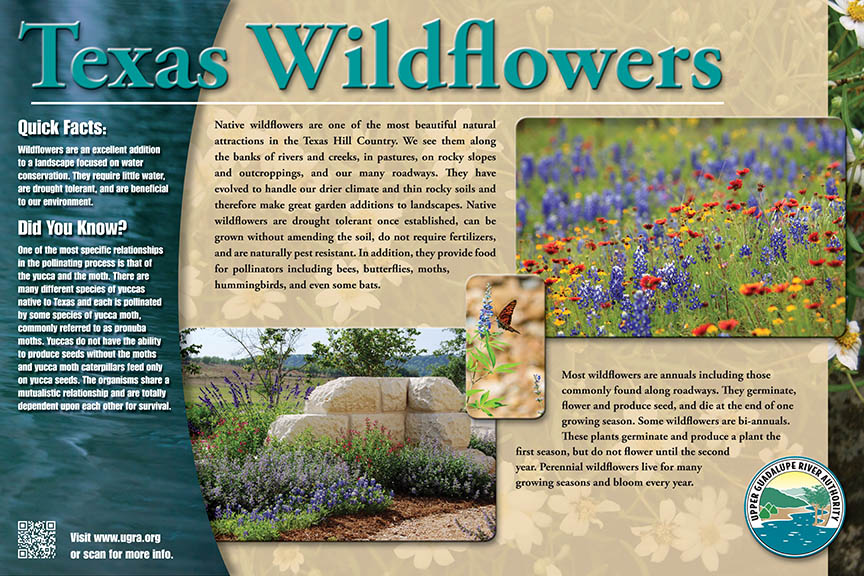 UGRA Walk Path Sign TX Wildflower