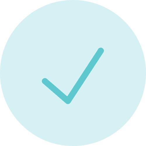 Transparent green tick icon
